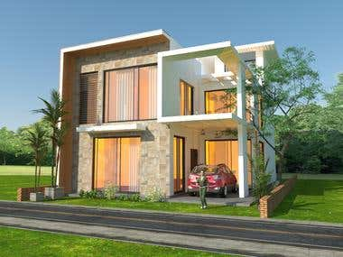 Sketchup 3d with vray rendering