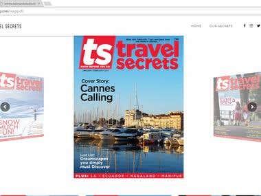 Travel Secret Magazine website
