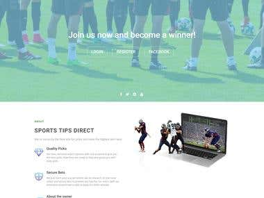 Sports Tips Direct - Custom + WordPress(Dashboard)