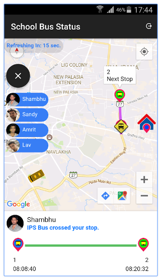 School Bus Tracking App | Parent App
