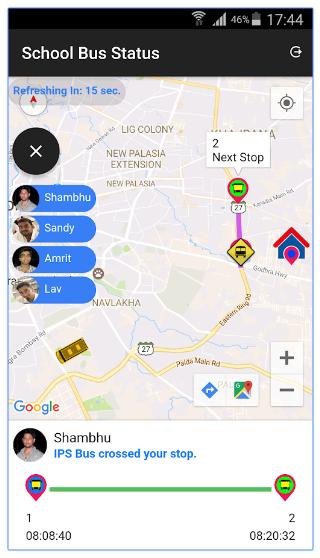 School Bus Tracking App | Parent App