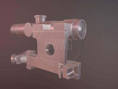 Sniper scope for a rifle (High-poly)