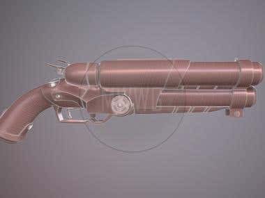 "Shotgun_COG_""MWWG"" (High-poly model)"