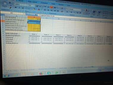 Water Fall Model by using excel.