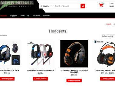 e-commerce Website ( Responsive and friendly with all device
