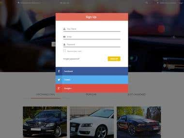 Car classified ads Category Website