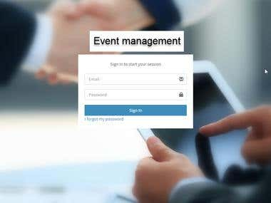 Event Exhibitor & logistic management system