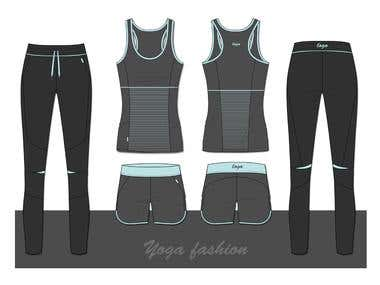 Yoga apparel set