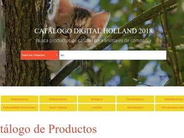 Catalogo de productos con filtro de busqueda