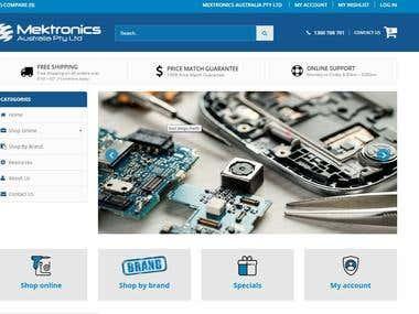 Magento Site - mektronics.com.au