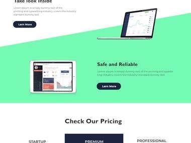 landing page for portfolio.