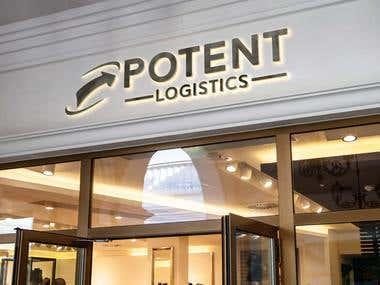 Potent Logistics logo design