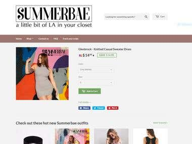 summerbae.com - full online retail business from scratch