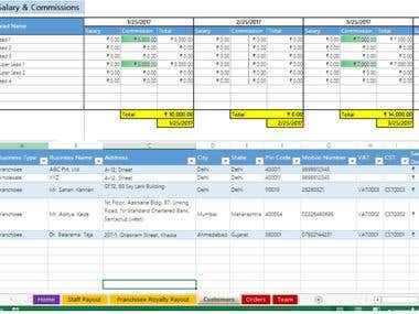 Excel based MIS Report
