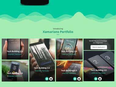 Xamarians Landing Page