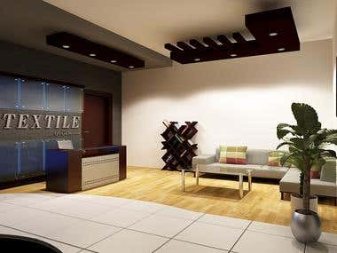 Reception Designed for Industry Office