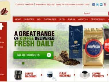 Corporate Coffe Website