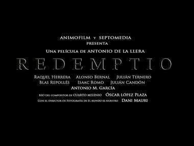 """TEASE TRÁILER """"REDEMPTIO"""" - DIRECTOR, GUIONISTA Y MONTADOR"""