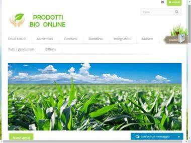 Prestashop :- Prodotti Bio Online