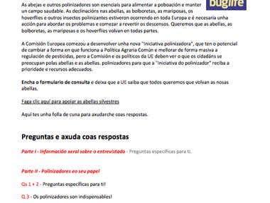 Buglife Project - Galician Translation