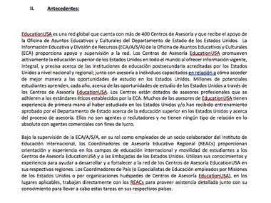 US State Department - Peruvian Government contract document