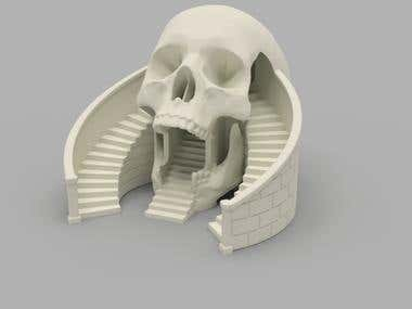 Skull dice tower design