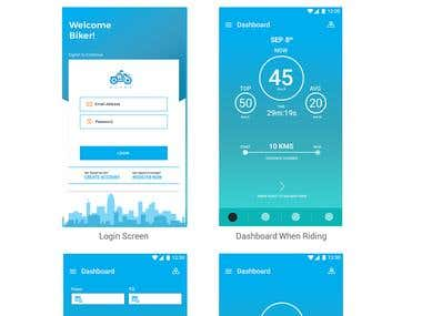 Bike Safety Device UI/UX Design