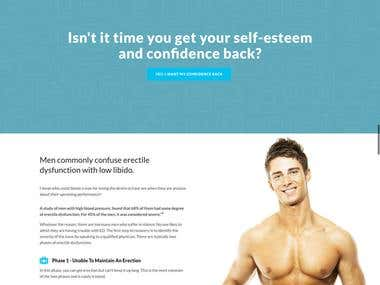 Mens Health Institute – Landing Page