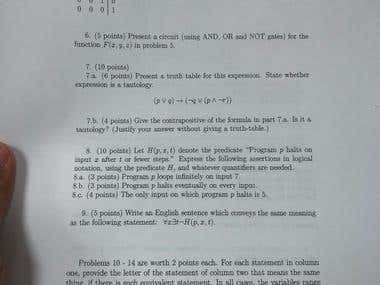 Mathematics Exam.