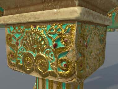 3D Showcase: Ancient Golden Columns