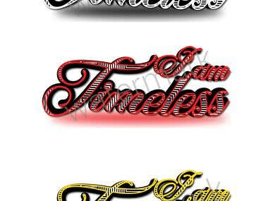 I am Time less logo design in different font and different