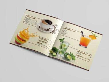Restaurant menu Brochure design