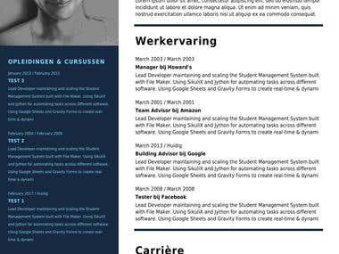 Created a Resume/CV Builder with Gravity Forms & Gravity PDF