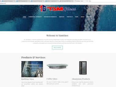 Website for a Glass & Aluminum Retailer