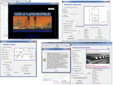 Matlab's GUI. Process Design
