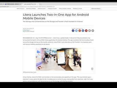 litera sync for android