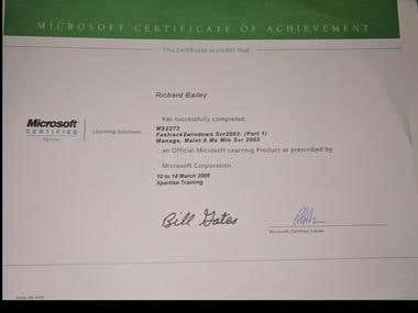 Microsoft MCP certificate