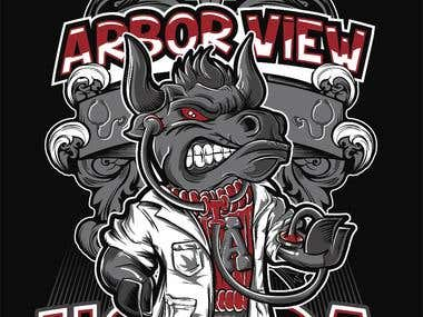 ARBOR VIEW UNIVERSITY LAS VEGAS TSHIRT