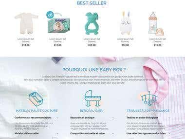 Baby Box Product - Ecommerce UI/UX