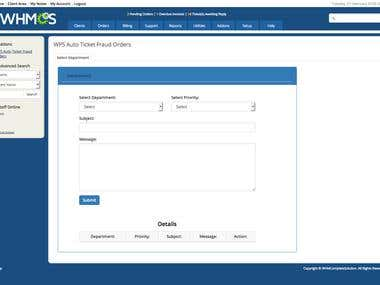 Fraud Order module in whmcs