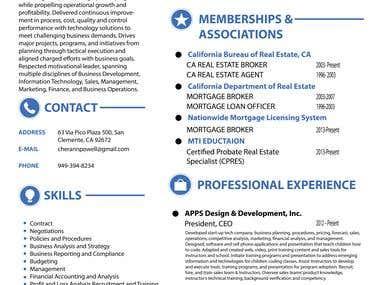 Resume Design with Ats Optimization.
