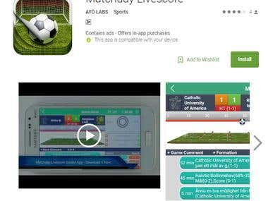 Matchday Live score - For Local teams By Ayo Labs