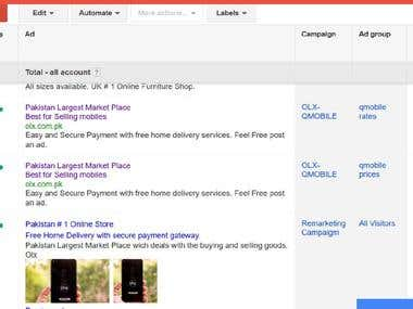 Creation Of Ads in Google Adword