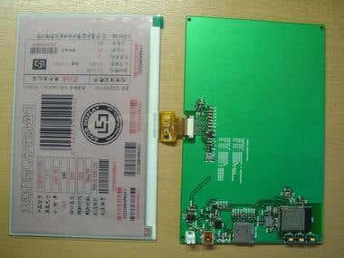 "ESP32 and 7.5"" E paper Display WiFi Sensor board"