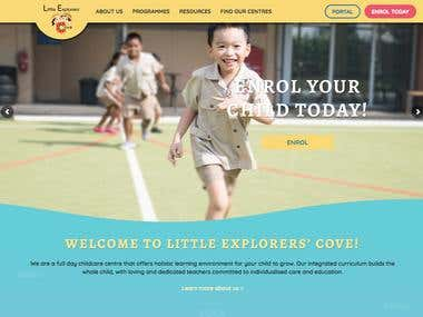 Little Explorers Website Design and Development