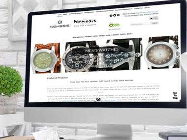 Nemesiswatch Website in Wordpress
