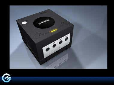 3D model video game console
