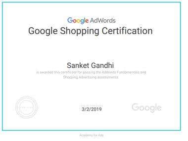 Google Shopping Certification