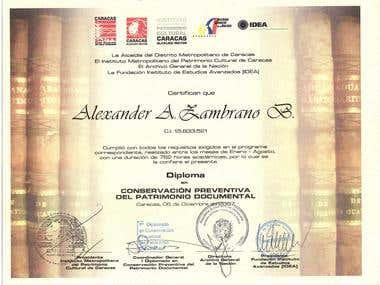Diplomado en Conservación del Patrimonio Documental