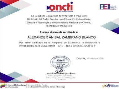 Certificación de Investigador A1